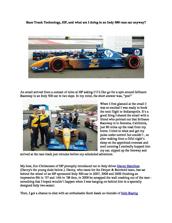 HP RaceTrack Technology
