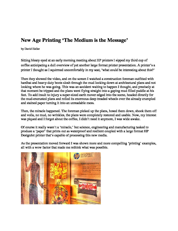 HP New Age Printing