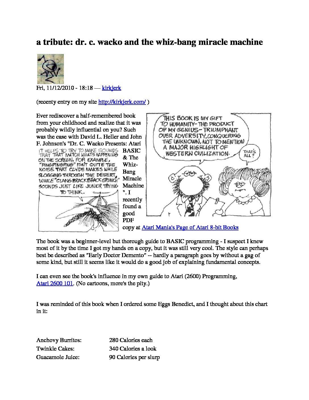 Dr. Wacko - Reviews - Editorial - Pricing
