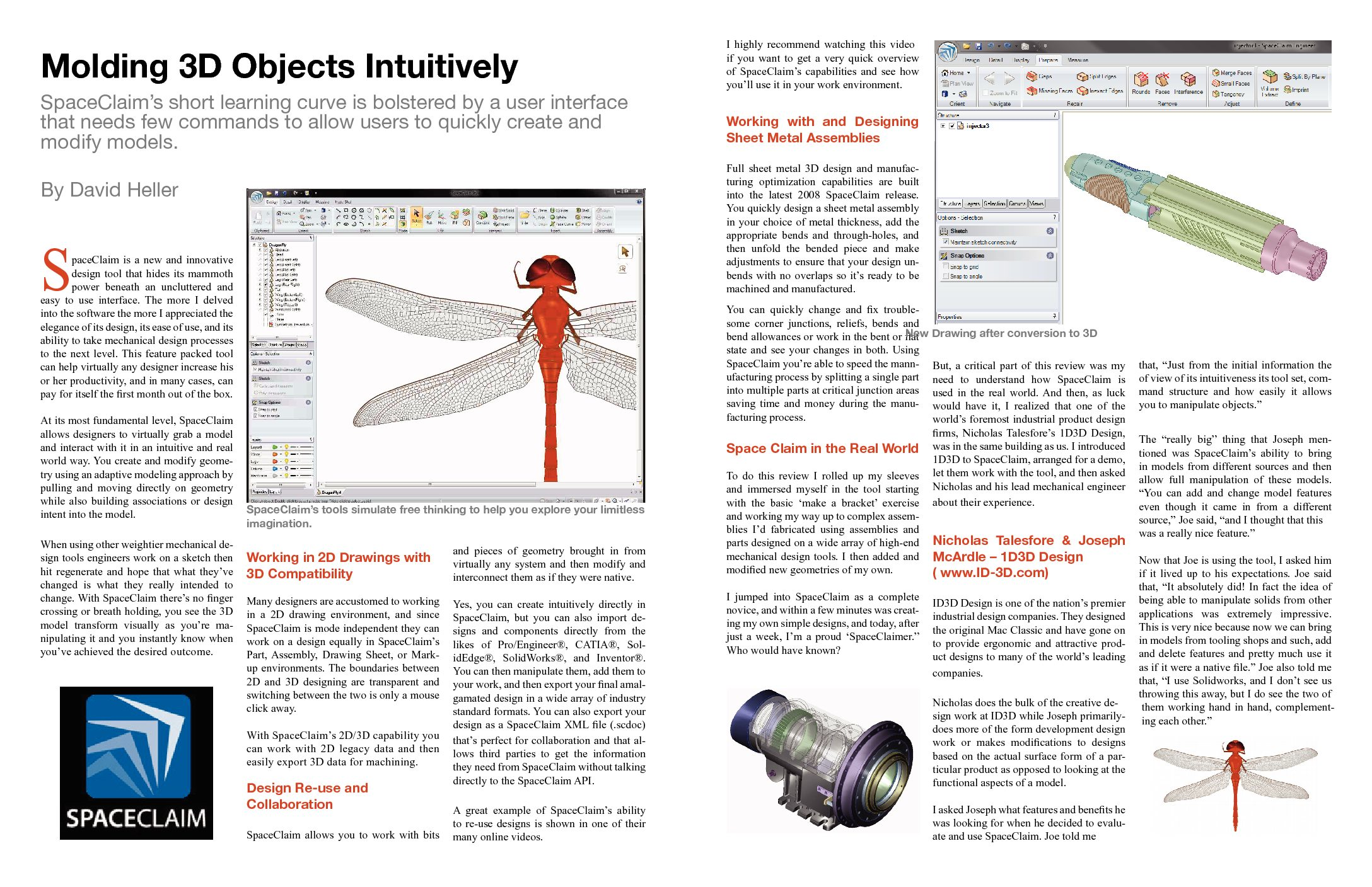 SpaceClaim 4-Page Brochure